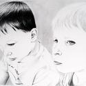 Grafitportré RENDELÉS A4, Képzőművészet, Dekoráció, Grafika, Rajz, Fotó, grafika, rajz, illusztráció, A megrendelt kép a rendelő által küldött referenciafotó alapján készül grafittal, Extra Smooth Bris..., Meska