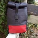 Roll Táska Fekete Piros, Táska, Kényelmes ,praktikus hátizsák nem csak kerékpározáshoz hanem minden napi használatra is. Feke..., Meska