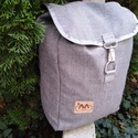 Szürke vászon hátizsák, Táska, Hátizsák, Férfi táska, Szürke vászon hátizsák egy darab belsőzsebbel. M:42cm Sz:28cm V:15cm, Meska