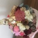 Tavaszi box arany színű nyuszival , Húsvéti díszek, Otthon, lakberendezés, Asztaldísz, Virágkötés, 15 cm háncs box közepére egy halmot építettem. Rengeteg terméssel,selyemviraggal,zuzmóval díszített..., Meska