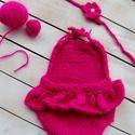 Pink body szett (2 részes), Gyerek & játék, Táska, Divat & Szépség, Gyerekruha, Ruha, divat, Baba (0-1év), Pink fodros body és fejpánt. (0-2hó)  Termékeim mindegyike kézzel készült és  mindegyikbe igyekszem ..., Meska