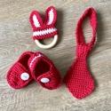 Nyakkendő és kiscipő szett, Gyerek & játék, Táska, Divat & Szépség, Gyerekruha, Ruha, divat, Baba (0-1év), Egyedi horgolt nyakkendő+cipő+ nyuszifüles rágóka. ( teljesen natur fából). Fotózásra, babalátogatás..., Meska