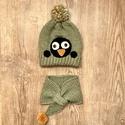 Pingvin sapka és nyakmelegítő, Gyerek & játék, Otthon & lakás, Karácsony, Dekoráció, Ünnepi dekoráció, Zöld színű pingvin sapi+ nyakmelegítő. Méret: 45-48 cm Más színben rendelhető., Meska