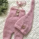 Újszülött  babaszett, Gyerek & játék, Táska, Divat & Szépség, Baba-mama kellék, Ruha, divat, Sál, sapka, kesztyű, 2 részes, babaszett fotózáshoz.  0-2 hónapos korig, Meska