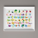 Étel ABC, Dekoráció, Baba-mama-gyerek, Kép, Gyerekszoba, A3-as (297mm x 420mm) méretben kreatív kartonra nyomtatva. KERET NÉLKÜL  Magyar ABC betűit használva..., Meska