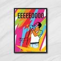 Freddie Mercury poszter, Dekoráció, Otthon, lakberendezés, Falióra, óra, Kép, Egyedi, saját tervezésű nyomat.  Freddie Mercury posztert amelyet a  Live Aid koncert ihlette, a leg..., Meska