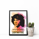 Jim Morrison poszter, Dekoráció, Otthon, lakberendezés, Kép, Falikép, Egyedi, saját tervezésű nyomat.  Jim Morrison poszter amelyet a Doors című film ihletett.  Az ár 1db..., Meska