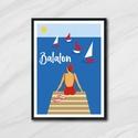 Fali dekoráció,nyári - Balaton, nyári fali kép, Dekoráció, Otthon, lakberendezés, Kép, Falikép, Nyár ihlette vidám poszterek.  A felitatok kérésre változtathatóak. Külön-külön és egyben is megvásá..., Meska
