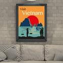 Visit Vietnam Utazó Poszter, Otthon, lakberendezés, Képzőművészet, Falikép, Illusztráció, Utazás ihlette poszter.  Az ár 1 db képre vonatkozik, a keretet NEM tartalmazza.   A kép mérete..., Meska