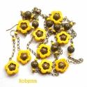 Sunflower, Sárgára színezett howlit ásványvirágok, átt...