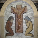 Házi oltár mozaik kép, Képzőművészet, Otthon, lakberendezés, Kerti dísz, Kőfaragás, Mozaik, Saját rajz alapján készített egyedi mozaik kép márvány és féldrágakő felhasználasával. A kép közepé..., Meska