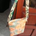 Batikolt válltáska tiniknekAKCIÓS !!!, Táska, Válltáska, oldaltáska, AKCIÓS !!!! autolsó darab...!!  Egyedileg batikolt válltáska, pompás narancs-zöld színekben. Egyedi ..., Meska