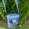 Farmer  egyedi táska.., Táska, Válltáska, oldaltáska, Újra hasznosított farmer táska, egyedi tervezéssel.  Csak ez az egy db készült belőle, ilyen formáva..., Meska