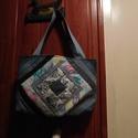 Patchwork laptop táska, Táska, Laptoptáska, Patchwork, foltvarrás, Varrás, A laptop mérete: 33 x 23 cm. Praktikus és kényelmes laptop hordozó táska. Újra hasznositott farmer ..., Meska