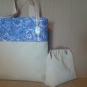 Műbőr táska nyomott mintával/válltáska/kézitáska , Táska, Válltáska, oldaltáska, Könnyű, praktikus táska egy egyedi nyomott mintás műbőrből és textilből.  Az elején egy ki..., Meska