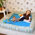 Óriás játszószőnyeg babáknak, Baba-mama-gyerek, Baba-mama kellék, Varrás, Az óriás játszószőnyeg kialakítása miatt rendkívül kényelmes és tágas teret ad a baba mozgásához, e..., Meska