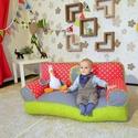 Bébi babzsák kanapé, Bútor, Baba-mama-gyerek, Babzsák, Gyerekszoba, Saját tervezésű, háttámlás, nagyon kényelmes és formatartó babzsák kanapé 1-3 éves korig..., Meska