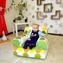 Bébi babzsák fotel, Baba-mama-gyerek, Bútor, Gyerekszoba, Babzsák, Saját tervezésű, háttámlás, nagyon kényelmes és formatartó babzsákfotel 1-3 éves korig.  ..., Meska
