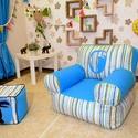 Gyermek és tini babzsák fotel, Baba-mama-gyerek, Bútor, Gyerekszoba, Babzsák, Varrás, Saját tervezésű, háttámlás, nagyon kényelmes és formatartó babzsákfotel 3-12 éves korig.  Külső huz..., Meska