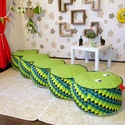 Kukac-Babzsák ülőke gyerekeknek, saját tervezésű babzsák bútor
