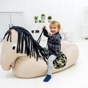 """Ló - babzsák fotel gyerekeknek, babzsákfotel, Bútor, Játék, Baba-mama-gyerek, Babzsák, """"Ló"""" alakú babzsákfotel, babzsákbútor gyerekeknek  Dupla huzattal készül, de a külső huzat a bútor k..., Meska"""