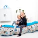 Kukac-Babzsák ülőke gyerekeknek, saját tervezésű babzsák bútor, Baba-mama-gyerek, Bútor, Gyerekszoba, Babzsák, Kukac - mókás, egyedi tervezésű babzsák ülőke gyerekeknek. 4 részes, fej, farok+2 köztes rész.  Dupl..., Meska