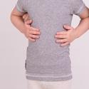 Hosszított aláöltöző pamut póló gyerekeknek, testhezálló póló 86-116-ig, HŰVÖS az idő, de bodyt már nem hordhat, a RÖV...