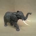 """elefánt, Képzőművészet, Otthon, lakberendezés, Szobor, Fa, Több rétegű hársfába faragott """" szerencsehozó elefánt'. Az elkészítés után páccal és fi..., Meska"""