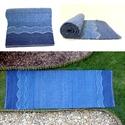 Kék Duna - Nagyon vastag, meleg és puha, ványolt gyapjú szőnyeg leírása, A víz ragyogó kék árnyalataiban készült sző...