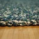Világközepe - Kék-zöld kerek szőnyeg, Esküvő, Otthon, lakberendezés, Nászajándék, Lakástextil, Pamut buklé fonalból, horgolással készült szőnyeg. Vastag, sűrű textúrájú, és kellemesen puha tapint..., Meska