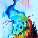 """A szépség tánca.Bíró Richárd nívós eredeti akvarellje, Képzőművészet, Festmény, Akvarell, Napi festmény, kép, Festészet, Eredeti akvarell és nem nyomat. 12x15 cm akvarell,papír Ahogy a mondás is tartja,""""az alma nem esett..., Meska"""