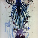 """A zebra.Bíró Richárd gyönyörű akvarellje, Képzőművészet, Festmény, Akvarell, Napi festmény, kép, Eredeti akvarell és nem nyomat. 15x21 cm akvarell,papír Ahogy a mondás is tartja,""""az alma nem ese..., Meska"""