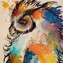 """Hú.Bíró Richárd gyönyörű akvarellje, Képzőművészet, Festmény, Akvarell, Napi festmény, kép, Eredeti akvarell és nem nyomat. 15x12 cm akvarell,papír Ahogy a mondás is tartja,""""az alma nem ese..., Meska"""