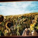 Őszi hangulat-olaj festmény, Otthon, lakberendezés, Képzőművészet, Festmény, Olajfestmény, Varrás, Festészet,  A termékek alatt az eredeti ár látható, ebből jön le a kedvezmény! ::)  A napraforgókat most egy k..., Meska