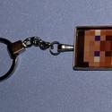 kulcstartó-minecraft, Mindenmás, Ékszer,  Kulcstartó 3o mm átmérőjű  ezüstszínű kör alakú kulcskarikával, szintén ezüstszínű s..., Meska