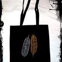 AKCIÓ!! madártoll vászon táska hosszú füllel Karácsonyi -10%, Mindenmás, Táska, Szatyor, Válltáska, oldaltáska,  A termékek alatt az eredeti ár látható, ebből jön le a kedvezmény! ::)  A táskára a minta kézzel fe..., Meska