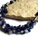 A nagy kékség ásvány nyaklánc, Ékszer, Nyaklánc, A nyakláncot gyöngyfűzés technikával készült, rengeteg kék színű ásványt és gyöngyöt használtam fel ..., Meska