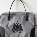Cordura/textilbőr Laptoptáska tulipán motivummal