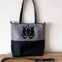 Cordura/textilbőr táska tulipán motívummal , Táska, Válltáska, oldaltáska, Variálható táska tulipán motívummal.  A táska vízhatlan anyagból készült.  A hosszúpánt ..., Meska