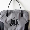 Cordura/textilbőr Laptoptáska tulipán motivummal, Táska, Laptoptáska, Laptoptáska tulipán motívummal.  textilbőr fogópántokkal, és állítható hosszúságú texti..., Meska