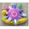 Csiga - szalagos, zörgő baba játék, Játék, Baba játék, Filc és pamut textil anyagból aprólékos munkával kézzel készült ez az édes babajáték, melyet szalago..., Meska
