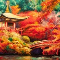 A Csönd Kertje Festmény, Képzőművészet, Festmény, Olajfestmény, Festészet, Közvetlen a művésztől !  Meditatív olajfestmény, gyönyörű színekkel. 70x40 cm Fa alapon Galéria min..., Meska