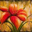 Liliom Festmény 80x60 cm, Képzőművészet, Festmény, Olajfestmény, Festészet, Közvetlen a művésztől !  Csodaszép festmény gyönyörű színekkel, egyedi stílussal. 80x60 cm Feszítet..., Meska