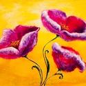 Tulipánok  Festmény 70x50 cm, Képzőművészet, Festmény, Olajfestmény, Festészet, Közvetlen a művésztől !  Csodaszép festmény gyönyörű színekkel, egyedi stílussal. 70x50 cm  Feszíte..., Meska