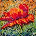 Pipacsrobbanás Festmény 50x40 cm, Képzőművészet, Festmény, Olajfestmény, Festészet, Közvetlen a művésztől !  Egyedi stílusú festmény élénk, gyönyörű színekkel. 70x50 cm  Feszített fes..., Meska