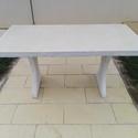 Kerti asztal, Otthon & Lakás, Asztal, Bútor, Kőfaragás, Mindenmás, Üvegszál erősítèses műkőasztal ,90x160x80cm. Több színben kérhető.Saját készitésű, polimer beton, c..., Meska