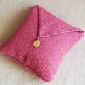 Pink  párnahuzat, Otthon, lakberendezés, Lakástextil, Párna, Kötés, Saját készítésű, kötött, pink színű díszpárnahuzat 40x40-es méretű anyaga akril fonal az ár csak a ..., Meska
