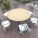 kovácsolt asztal + 6db szék , Bútor, Asztal, Szék, fotel,   kovácsolt asztal 110cm átmérővel (hatalmas családi asztal) hat székkel. Csak rendelésre!  P..., Meska