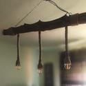 Rusztikus csillár, Otthon & Lakás, Lámpa, Fali & Mennyezeti lámpa, Famegmunkálás, Mindenmás, Rendelhető saját készítésű rusztikus lámpa. Termék tulajdonság: Hossz:-87cm Átmérő:11cm Faanyag:-tu..., Meska