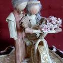 Esküvői szívdoboz, Esküvő, Esküvői dekoráció, Nászajándék, Fonás (csuhé, gyékény, stb.), Hagyományos technikával készült 7 -es, 11 -es és rece elnevezésű szalmafonatokkal díszített szív fo..., Meska